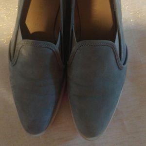 Everlane Gray Suede Nubuck Street Shoe Loafers 8